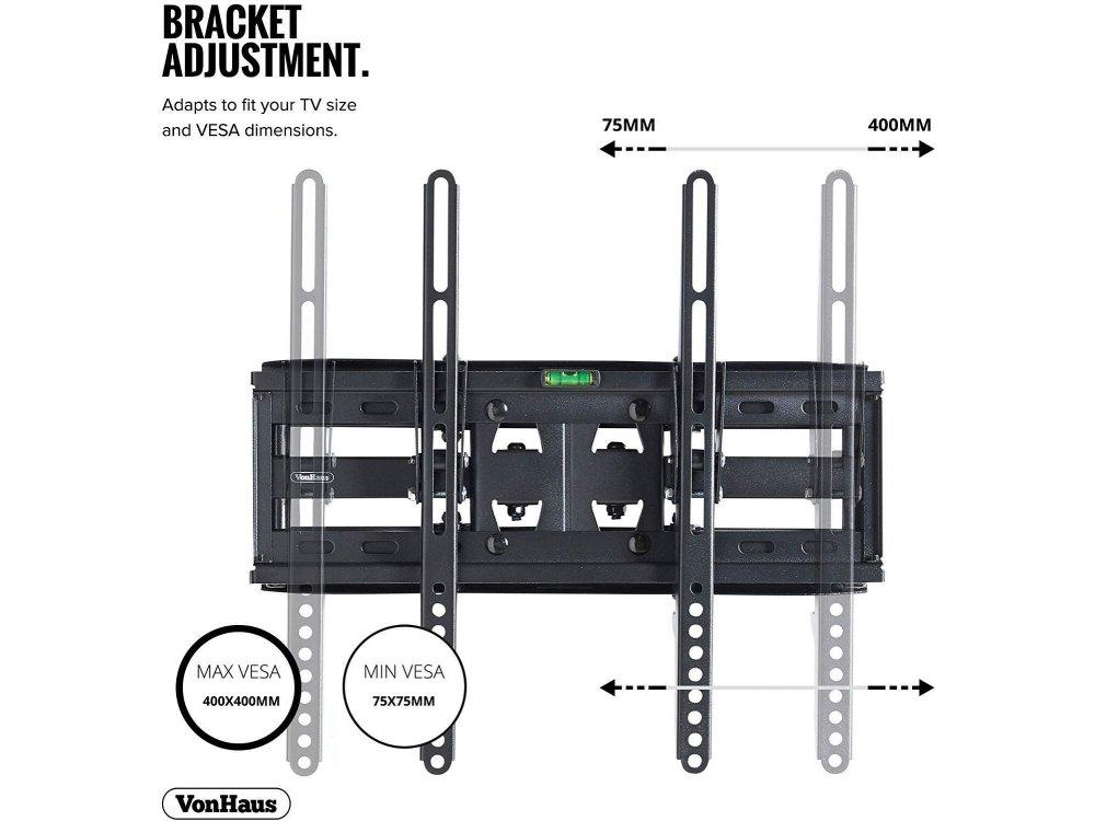 "VonHaus TV Mount, Επικλινόμενη Βάση με διπλό Βραχίονα για TV 23""-56"", έως 45kg - 05/060"