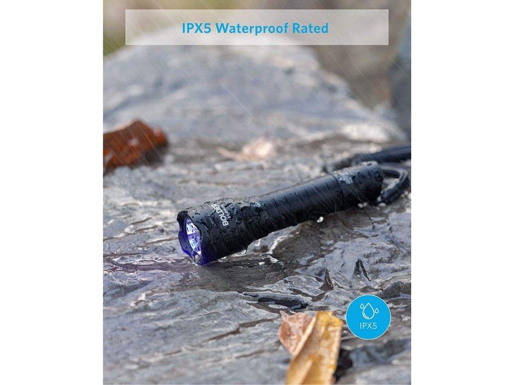 Anker Bolder UV Blacklight Ultraviolet, 380nm, Rechargeable, IPX5 - T1429011