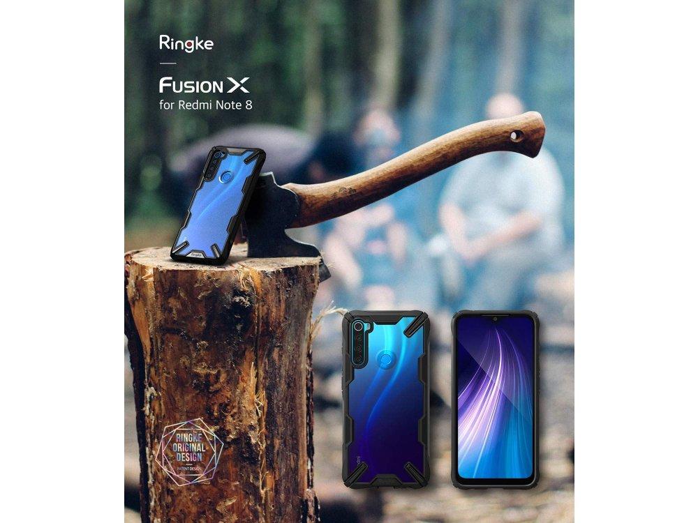 Ringke Fusion X Xiaomi Redmi Note 8 Θήκη, Μαύρη