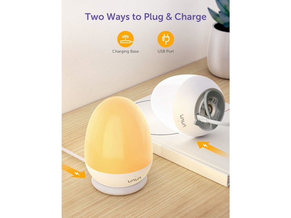 VAVA VA-CL006 Mini Night Light, IP65 water-resistant, with Touch Control and Timer