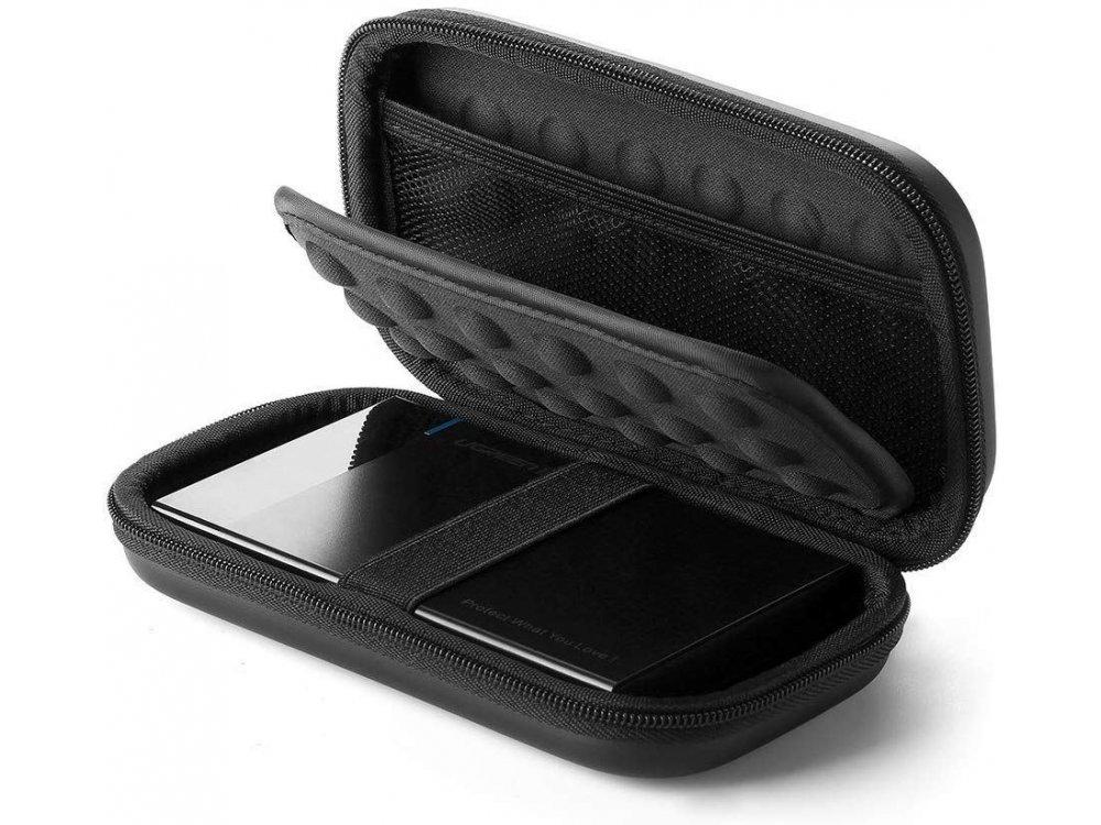 Ugreen External Hard Drive case, travel Organiser bag for electronics, L (180mm x 95mm x 55mm) - 50274