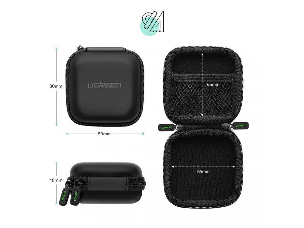 Ugreen Θήκη Ακουστικών (Airpods / Galaxy Buds / Liberty κ.α.) & Εξαρτημάτων, Μαύρη - 40816