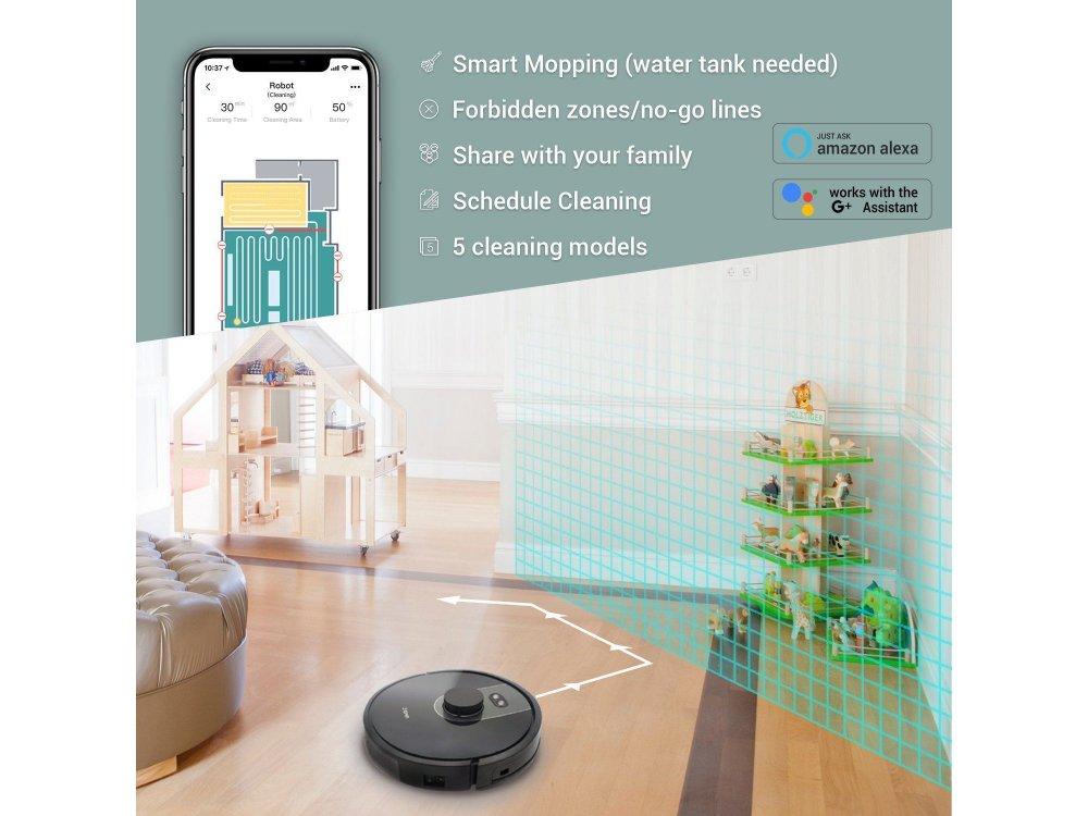 Zigma Spark - Smart Robot Vacuum / Mopping Cleaner με Λειτουργία Σφουγγαρίσματος, Laser Mapping - 980
