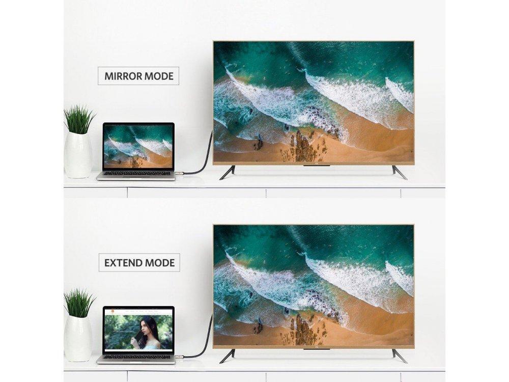 Ugreen DisplayPort Gold Plated Cable 4K@60Hz, 6ft. Nylon braiding - 30120