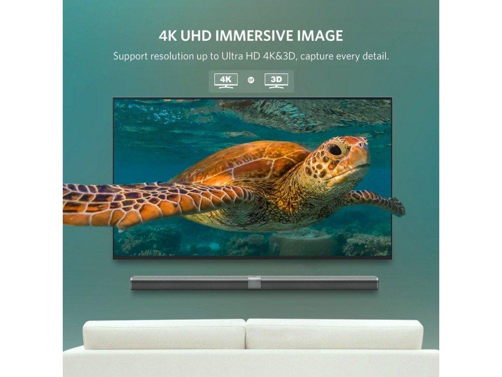 Ugreen DisplayPort Cable 4K@60Hz, 3ft. Black - 10244
