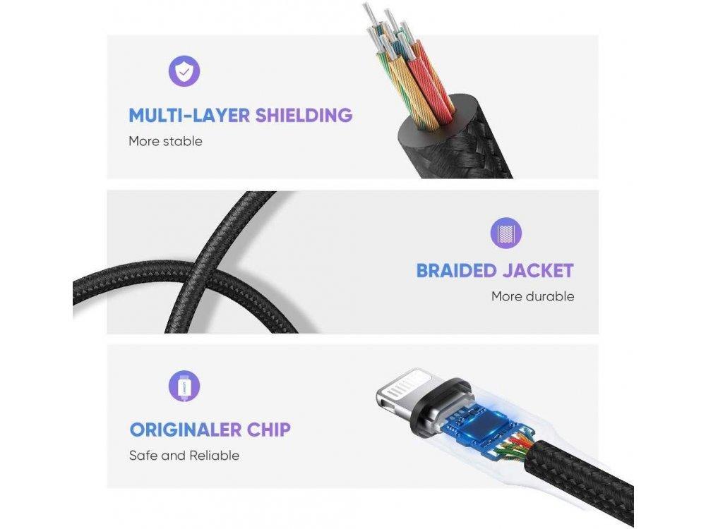 Ugreen 3.5mm AUX Audio Αντάπτορας σε Lightning για Apple iPhone / iPad / iPod MFi - 30756