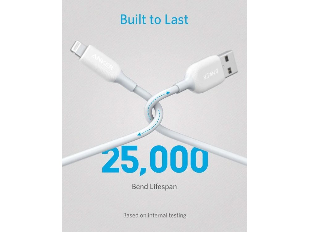 Anker PowerLine III Lightning cable 6ft. for Apple iPhone / iPad / iPod MFi - A8813021