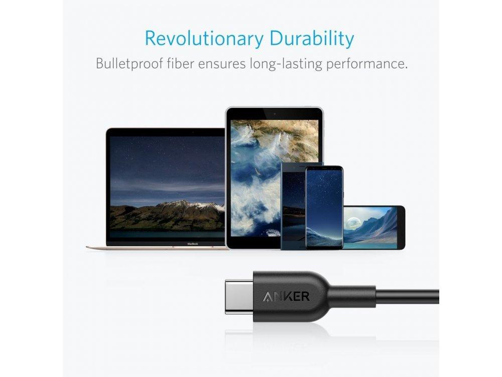 Anker Powerline Καλώδιο USB-C σε USB-C 1.8m. - A8482011, Μαύρο