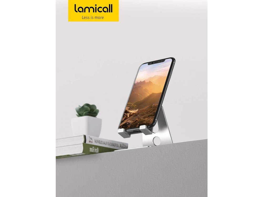 """Lamicall A1 Dock/Stand for Smartphone Adjustable 270° for devices 4""""-13"""", Silver"""