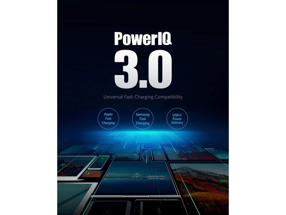 Anker PowerPort III Duo PD Φορτιστής πρίζας 2-θυρών 36W με Power Delivery - A2628121