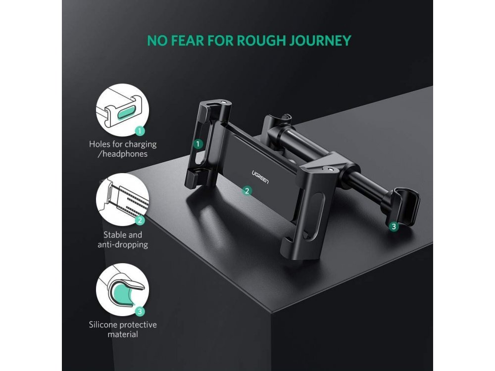 "Ugreen Tablet Mount, Βάση tablet για προσκέφαλο αυτοκινήτου, για συσκευές 4.7""-12.9"", Μαύρη - 60108"
