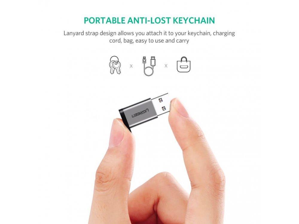 Ugreen Αντάπτορας USB-C Θηλυκό σε USB 3.0 - 50533, Ασημί