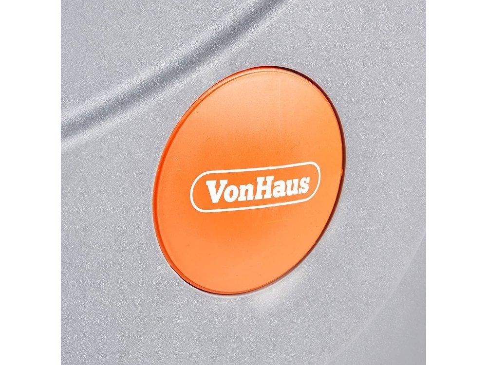 VonHaus Αυτόματο Καρούλι Λάστιχου 30μ. με Βάση Τοίχου και Πιστόλι Ποτίσματος 8 Λειτουργιών, 180° pivot - 2500013