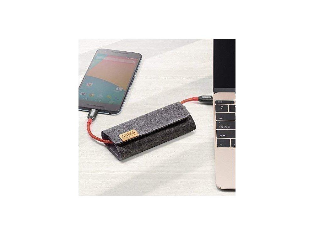 Anker PowerLine+ 2μ. Καλώδιο USB-C σε USB-C Με Νάυλον ύφανση - A8188091, Κόκκινο