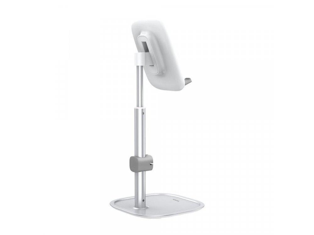 Baseus Literary Youth Desktop Telescopic Bracket Holder, Βάση / Stand τοποθέτησης Κινητού/Tablet Τηλεσκοπικό, Ασημί - SUWY-A0S