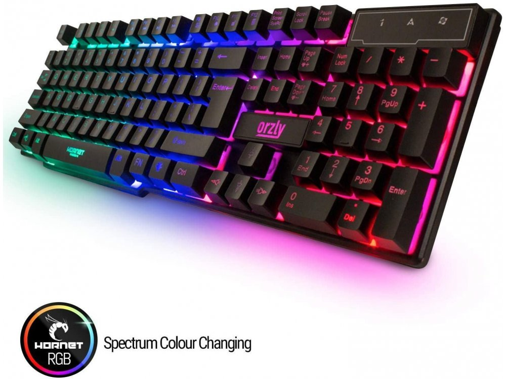 Orzly RX250-K, RGB Gaming Keyboard (PC / PS4 / Xbox)