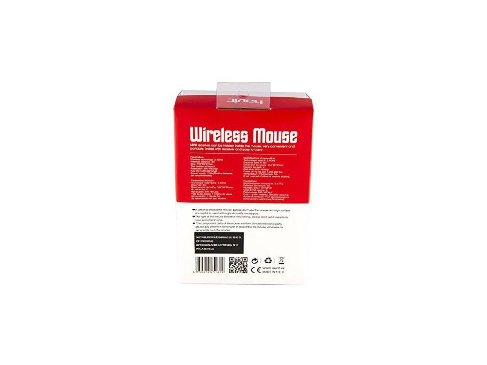 Havit MS989GT Wireless Optical Mouse, 800-1600 DPI, Black