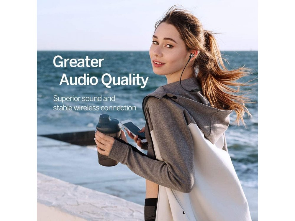 TaoTronics TT-BH042 Bluetooth 5.0 Neckband ακουστικά με Active Noise Cancelling, CVC6.0, 16H Μπαταρία, Μαύρα