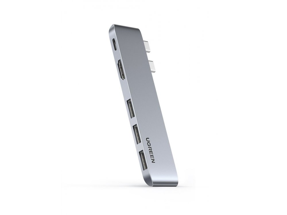 "Ugreen 5-in-2 Type-C Pro Hub 4K για Macbook Pro / Air 16 "" / 15'' / 13'' 100W with 4K HDMI + 3*USB3.0 Θύρες, Space Gray - 60559"
