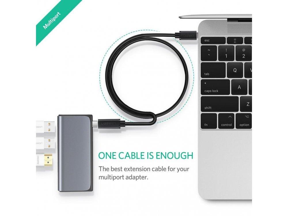 Ugreen USB-C Καλώδιο Επέκτασης 0,5μ., Μαύρο - 40574