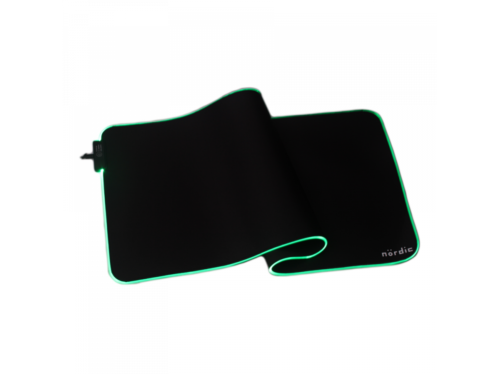 Nordic XXL Gaming Mouse Pad (120x60x0,4cm) με RGB LED, Μαύρο - GAME-N1037