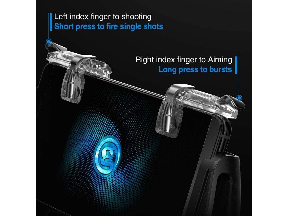 Gamesir L1R1 Trigger Firesticks, Shot and Aim Buttons (PUBG/Fortnite suitable)