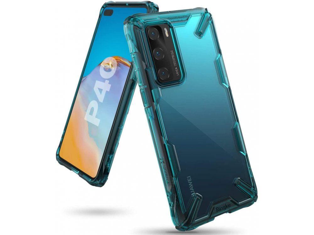 Ringke Fusion X Huawei P40 case, Turquoise Green