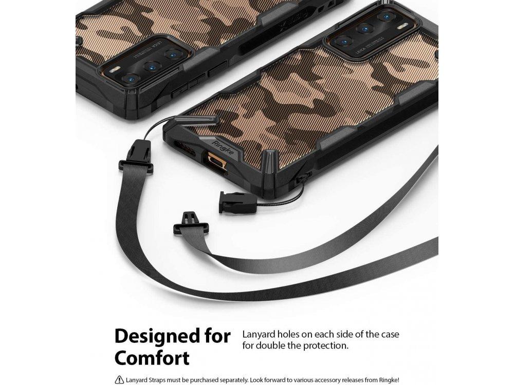 Ringke Fusion X Huawei P40 Case, Camo Black