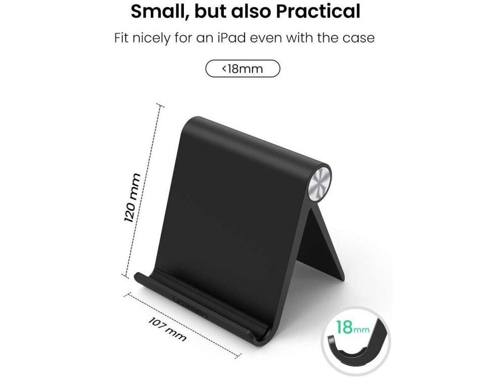 Ugreen Multi-Angle Βάση τοποθέτησης Tablet/E-reader (120mm x 107mm), Μαύρη - 50748