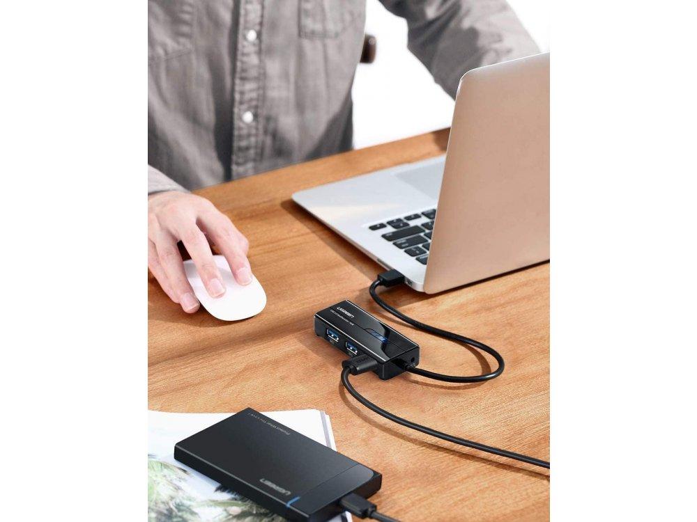 Ugreen 3-Port USB 3.0 and Gigabit Ethernet Hub - 20265