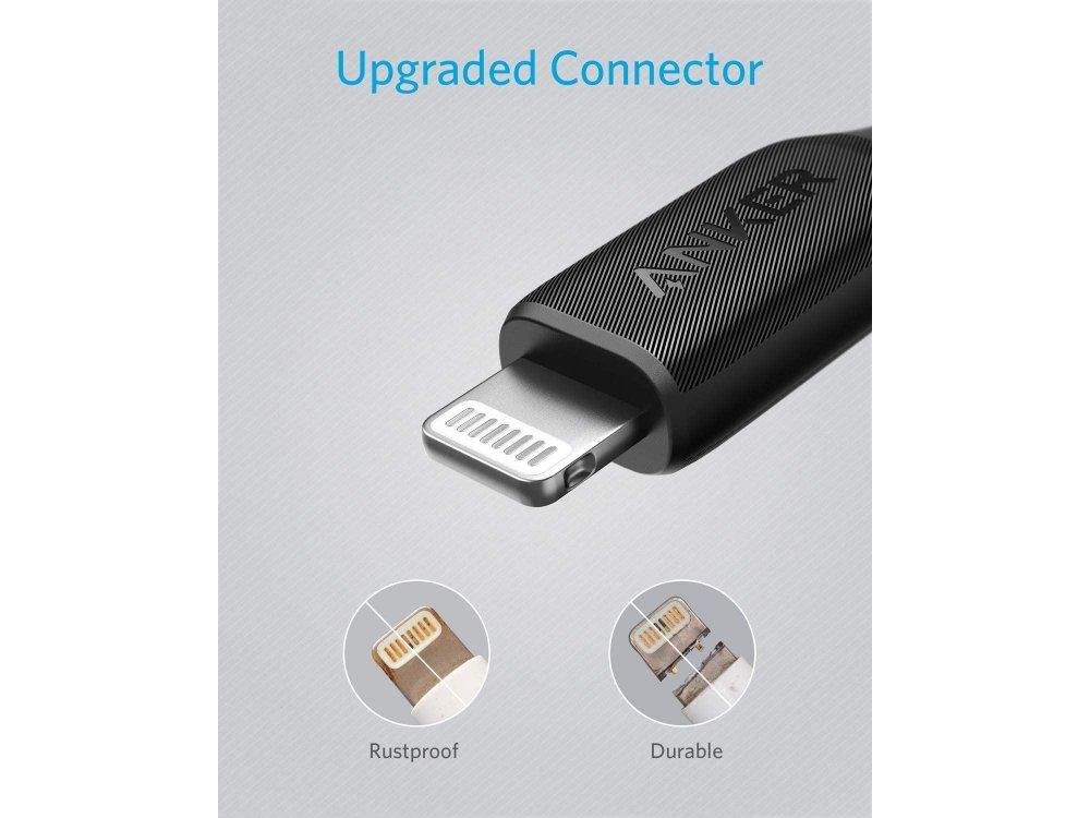 Anker PowerLine III Dura 1.8μ. Lightning Καλώδιο για Apple iPhone / iPad / iPod MFi - A8813011, Μαύρο