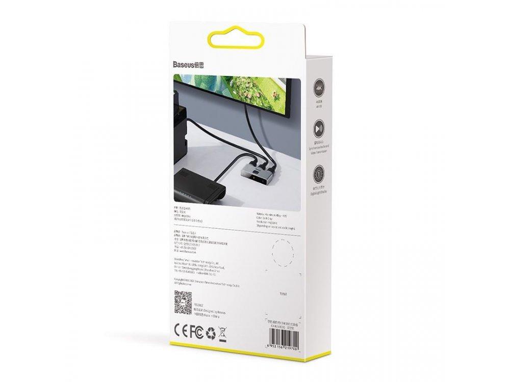 Baseus Matrix HDMI 2-1 Switch/Splitter 4K Bidirectional - CAHUB-BC0G