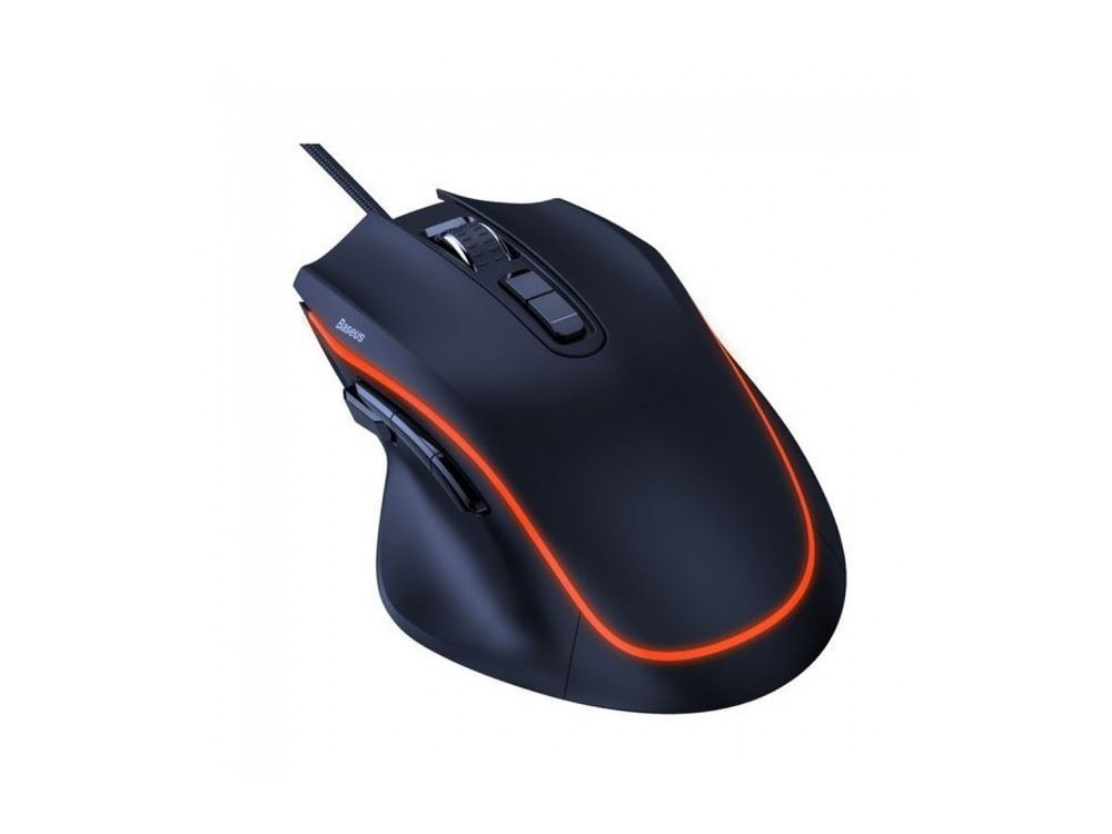 Baseus Gamo Backlit Wired Gaming Mouse, Optical 6.400DPI Adjustable, 9 Programmable Buttons - GMGM01-01