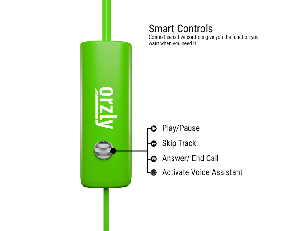 Orzly Stereo Earbuds with in-line Microphone, in-ear Ακουστικά (Nintendo Switch / 2DS XL / Mac / iOS / PC), Green
