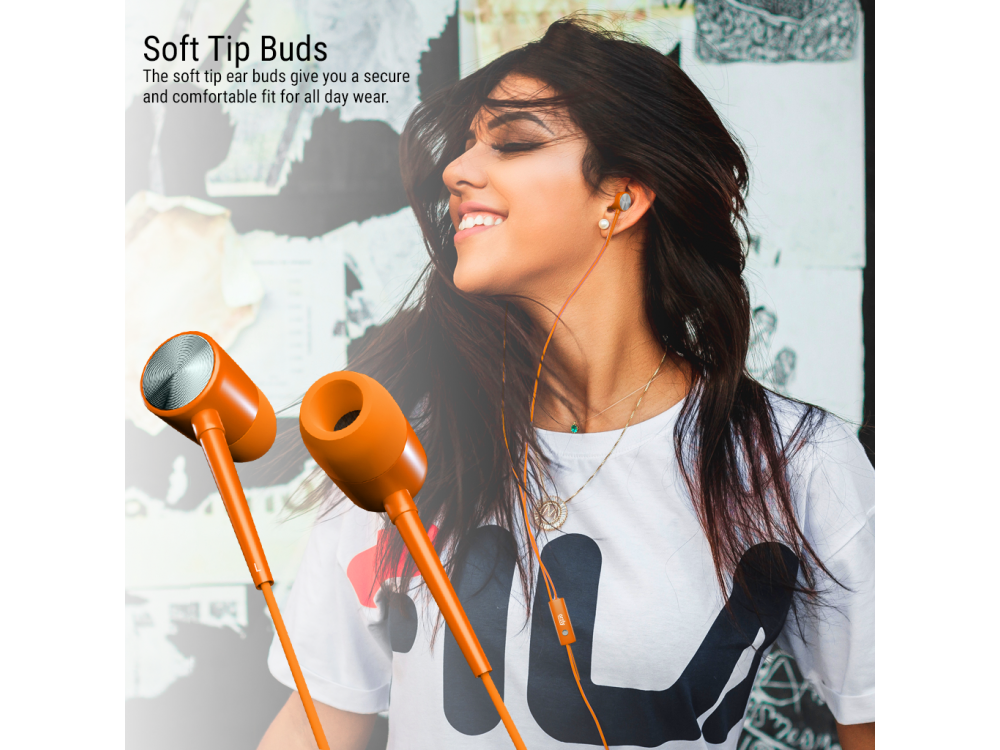 Orzly Stereo Earbuds with in-line Microphone, in-ear Ακουστικά (Nintendo Switch / 2DS XL / Mac / iOS / PC), Orange