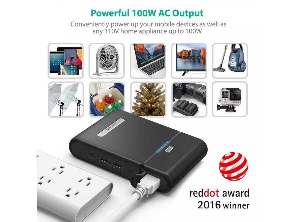 RAVPower 27000mAh 85W Power House AC Power bank - RP-PB055