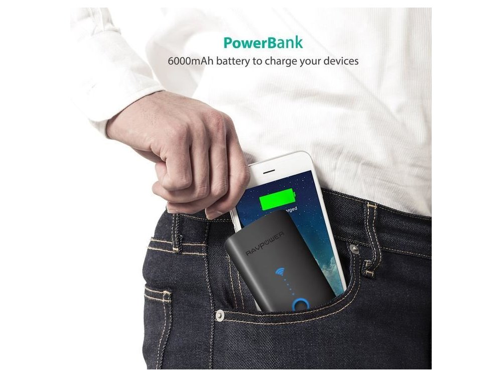 RAVPower FileHub N300 Power Bank 6700mAh & Wireless Travel Router - RP-WD03