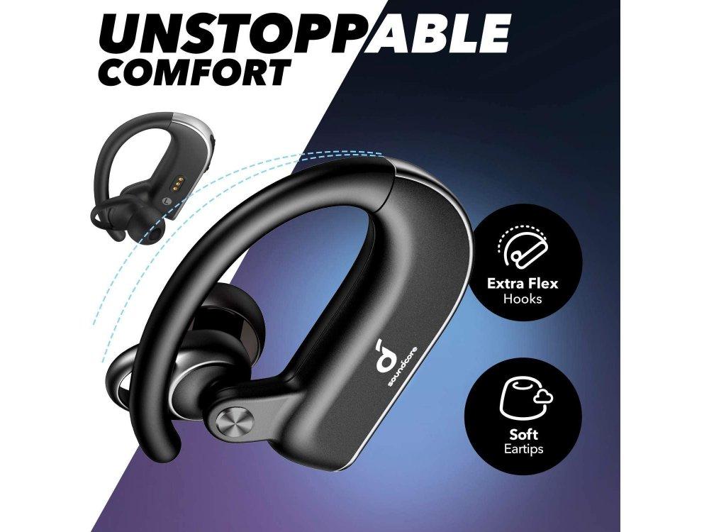 Anker Soundcore Spirit X2 Bluetooth Ακουστικά TWS - A3918011, Μαύρα