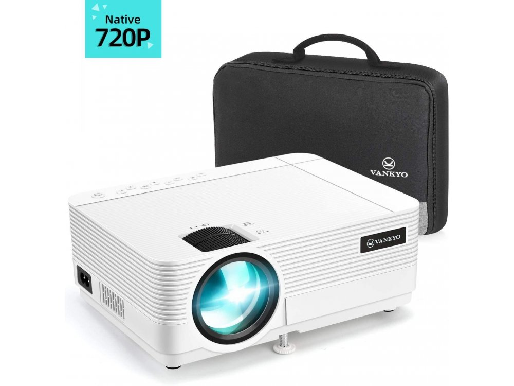 VANKYO Leisure 470C Portable Mini Projector HD 1080p, HD 720p Native resolution, 4000 Lumens, 3500:1 Contrast