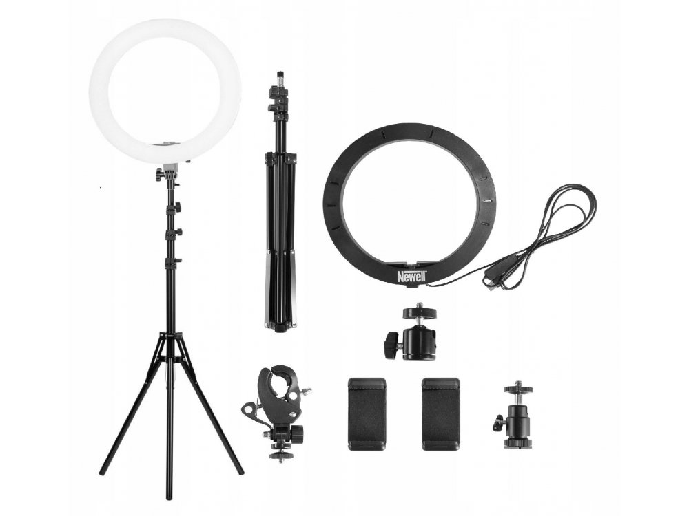 """Newell RL-10A LED Ring Light 10"""" (26cm.) Dimmable & 3200K-5600K Adjustable Color Temperature & Tripod"""