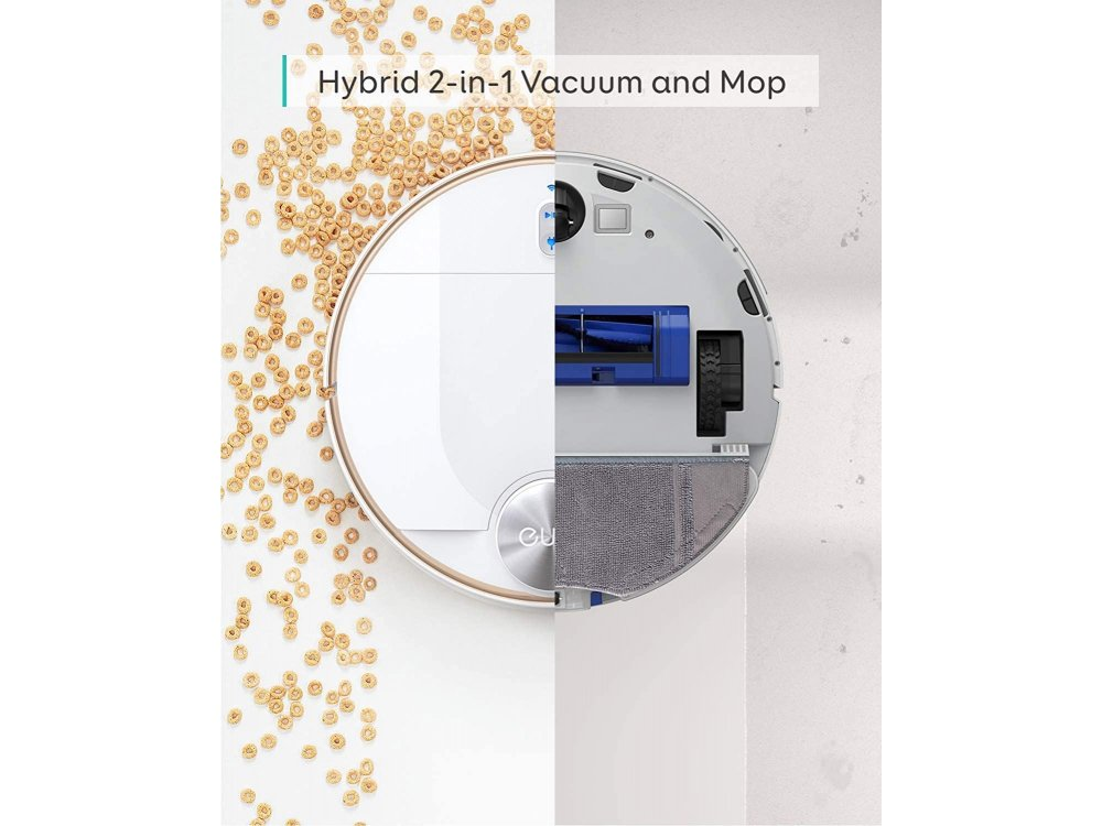 Anker Eufy RoboVac L70 Hybrid Robot Vacuum with WiFi - 2200Pa, iPath Laser Navi, Self-Docking - T2190G21