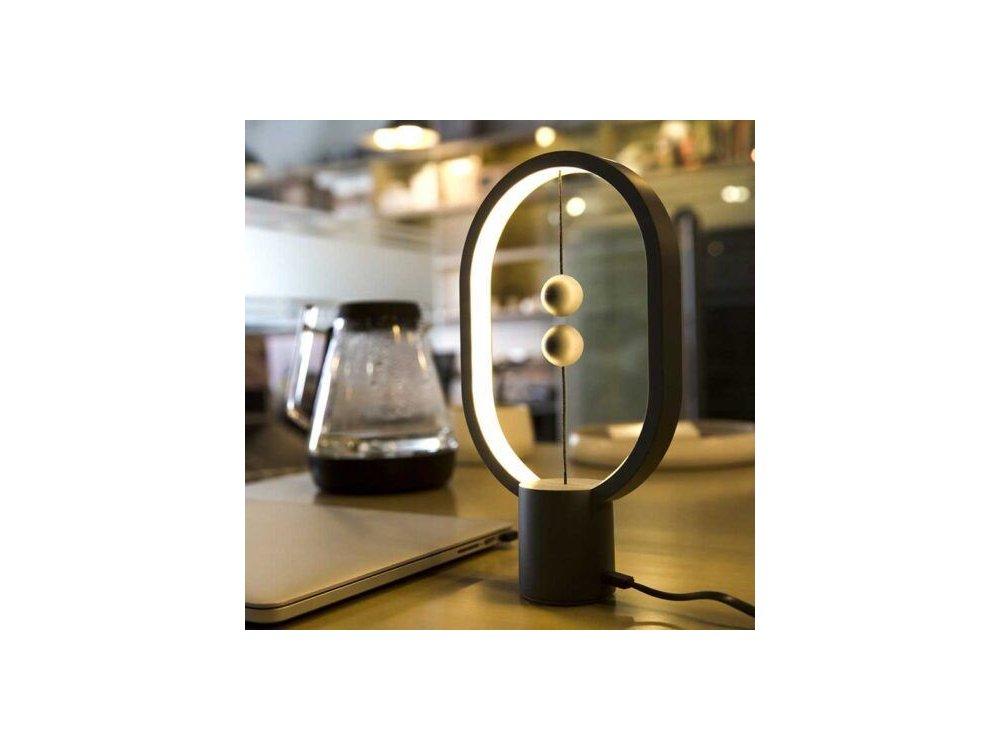 Allocacoc Heng Balance Plastic Lamp, Ellipse Mini, Φωτιστικό με Μαγνητικό Διακόπτη, Dark Grey - DH0098DG/HBLEMN