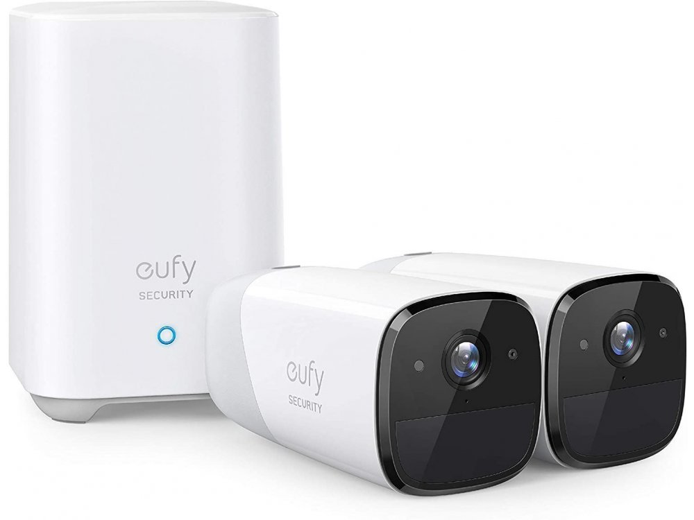 Anker eufyCam 2 ΚΙΤ 2 Wireless Cameras FullHD with Homebase, 1-Year Battery Life, Human detection, Night Vision, by Eufy - T88413D2