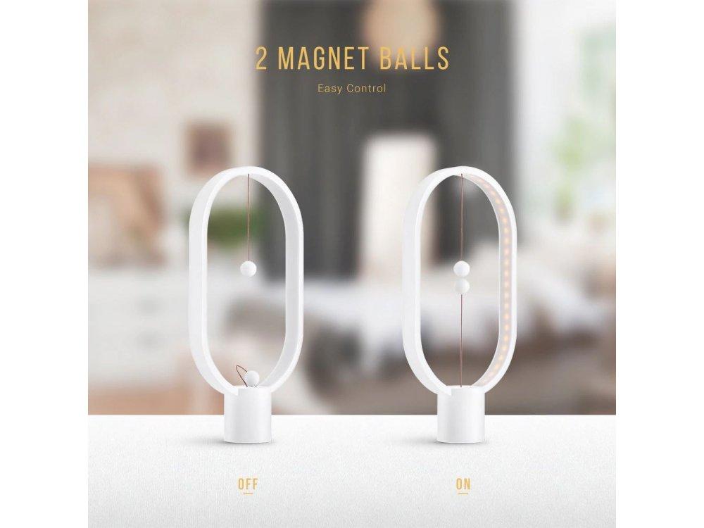 Allocacoc Heng Balance Plastic Lamp Ellipse, Φωτιστικό με Μαγνητικό Διακόπτη, Λευκό - DH0040WT/HBLEUB