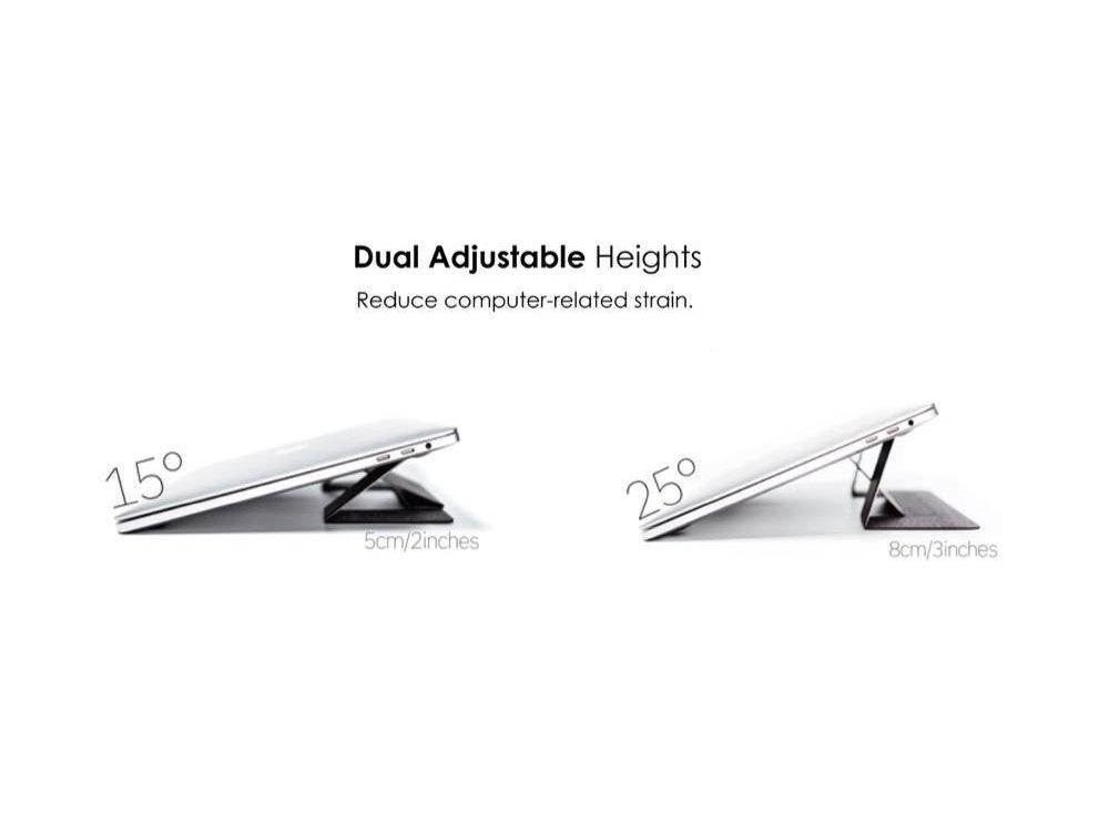 Allocacoc Moft Laptop Σταντ Αντιολισθητικό & Φορητό, Μαγνητικό Folding Slim Stand, Pink