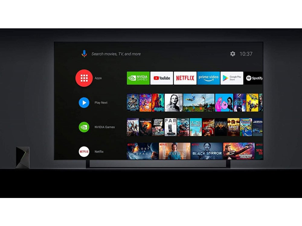 Nvidia Shield TV Pro Android 4K HDR Streaming Media Player με Remote, 3GB DDR3 RAM, 16GB SSD Storage