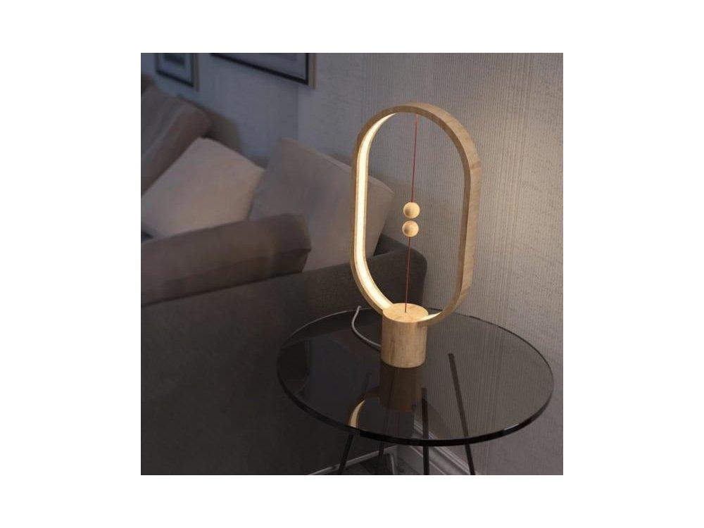 Allocacoc Heng Balance Wooden Lamp Ellipse, Ξύλινο Φωτιστικό με Μαγνητικό Διακόπτη, Light Wood - DH0037LW/HBLEUB
