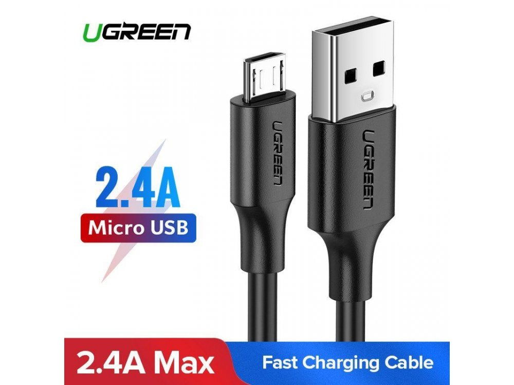 Ugreen Καλώδιο Micro USB 0,5μ. Μαύρο - 60135