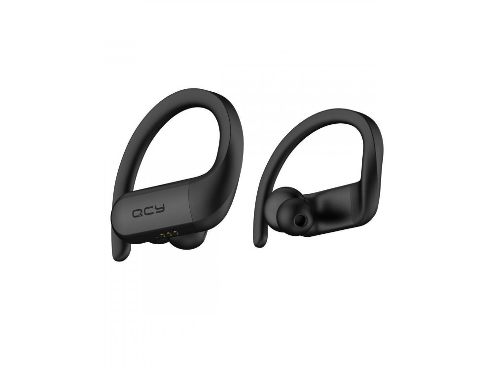QCY T6 Bluetooth Sports Ακουστικά TWS, BT5.0 με APP, Μαύρα - LN1947