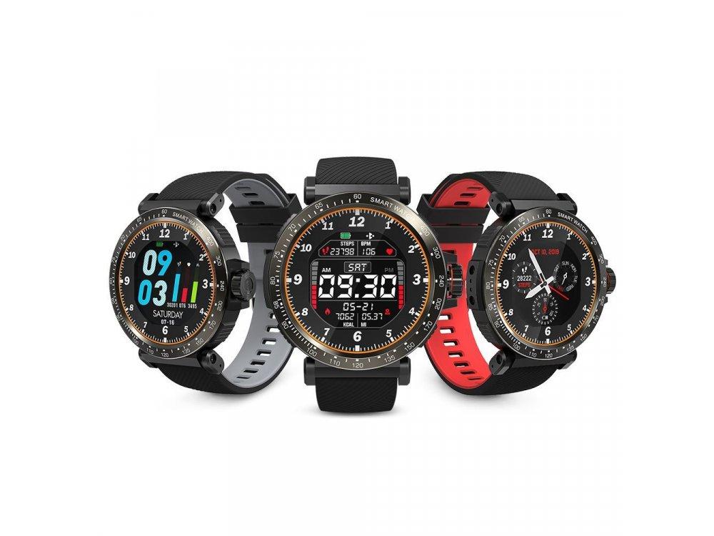 "BlitzWolf BW-ΑΤ1 Smartwatch 1.3"" HD Screen, Real Time Health Monitoring, 8 Sports Modes, IP68, HR Blood Pressure, Black"